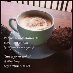 | no.84 | | latte & power cookie @ Blaq Sheep | (onemillionreasonstolovevancouver) Tags: world city people food tourism home coffee promotion vancouver cool realestate profile kitsilano today l4l vancity downtownvancouver metrovancouver onemillion cityofvancouver vancouverite vancouvercity vancouvertourism vancouverrealestate vanone awesomevancouver instaphoto instagood instafollow uploaded:by=flickrmobile flickriosapp:filter=nofilter miguelboccanegra thegreatervancouverarea blaqsheep