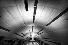 Welcome to the Hyperloop (sandracanning) Tags: monochrome station architecture train blackwhite nikon florida miami mia miamiairport d7000 hyperloop sandracanning