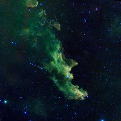 Το «Κεφάλι της Μάγισσας». Έτσι ονόμασαν οι επιστήμονες της NASA το νεφέλωμα που παρατήρησαν μέσα από υπέρυθρο τηλεσκόπιο, με αφορμή τη γιορτή του Halloween στις 31 Οκτωβρίου. (πηγή: NASA—Reuters)