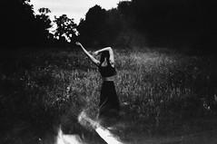 (emmakatka) Tags: portrait blackandwhite girl field forest dark dance woods alone arms