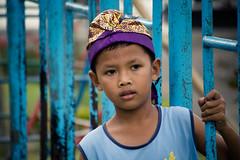 On the playground (Channed) Tags: travel blue boy portrait bali playground indonesia asia child reis kind portret indonesi speeltuin azi locatie jongen bratan beratan lakebratan lakeberatan chantalnederstigt