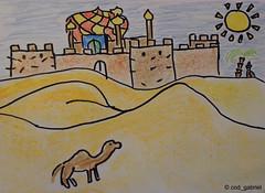 (cod_gabriel) Tags: sahara desert drawing dessin konst palmtree oriental orient dibujo desenho disegno levant zeichnung tekening  teckning rajz   desen menggambar   deert