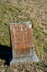 Alice Carrell (Adventurer Dustin Holmes) Tags: cemeteries cemetery grave graves gravestone tombstones gravemarkers gravemarker alicecarrell newhomecemetery