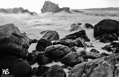 Portknockie Rocks (Kyle Simpson) Tags: ocean longexposure blackandwhite white black beach water pool puddle grey scotland nikon rocks long exposure stones pebbles filter nd smokey moray buckie morayshire ndfilter portknockie d3100 nikond3100