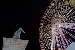 LA GRANDE ROUE (bernard63000) Tags: statue nikon doigt nol auvergne granderoue roue puydedme clermontferrand gnral placedejaude d700 1424mm desaix