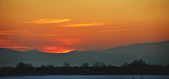 Sunset January 2014 Highland or american fork (houstonryan) Tags: county sunset panorama photography evening utah haze ryan january houston panoramic photograph late inversion hazy 2014 houstonryan