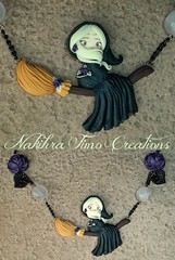 Moon Witch Polymer Clay (Nakihra Fimo Creations) Tags: moon handmade witch clay polymer
