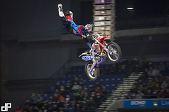 Samson Eaton at the 2014 Garmin UK ArenacrossUK Tour with E22 Sports at Liverpool's Echo Arena. With Bolddog FMX Team Honda Motorcycles UK FTR Suspension — with Samson Eaton at Echo Arena.