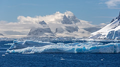 Iceberg and Glaciers, Lemaire Channel, Antarctica (bfryxell) Tags: fog clouds antarctica glacier iceberg lemairechannel