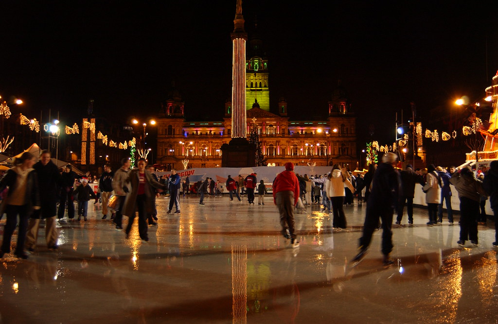 Ice Skaters George Square 2002