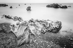 Molten (DMac 5D Mark II) Tags: ocean longexposure sea bw seascape beach water rock landscape ancient atmosphere coastline remote southkorea jeju untouched volcanic dreamscape modd
