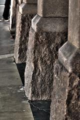 Townsville sandstone bases HDR (aussieprophet) Tags: door old architecture canon sandstone mainstreet antique 100mm railwaystation qld townsville aussieprophet