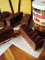 Crispy Creamy Hazelnut Bars (ComeUndone) Tags: chocolate nutella candybar wafer feuilletine hazelnut chocolatebar vegetableoil darkchocolate liddabitsweets candybycandy eggbiscuitroll