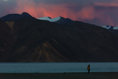 Lac Pangong 2 (Proverich) Tags: sunset india mountain lake snow ladakh indianman pangonglake