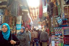 Tunis Medina (Siouz) Tags: africa colorful veil market northafrica tunisia tunis streetscene arabic maghreb souk medina tunisie