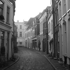 Foggy Zutphen street (Lovando) Tags: street netherlands foggy zutphen gelderland