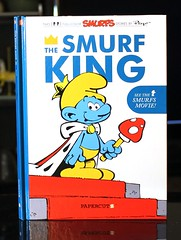 The Smurf King:  a Smurfs Graphic Novel (Vernon Barford School Library) Tags: new school fiction comics reading book high king comic graphic library libraries magic hard reads johnson books joe read kings fantasy cover strip comicbook junior comicbooks novel covers graphicnovel bookcover smurf middle vernon smurfs royalty recent strips bookcovers graphicnovels novels fictional hardcover gargamel yvan barford schtroumpf peyo schtroumpfs hardcovers delporte papercutz vernonbarford 9781597072250