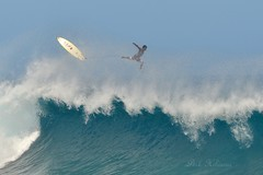 Flying High Three (Pink Hibiscus) Tags: hawaii nikon surf waves oahu pipe northshore fx pipeline allrightsreserved bigwaves d800 flyinghigh copyrighted 2014 banzaipipeline pinkhibiscus exitingawave