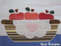 Cesta de mas (vaniathomazim) Tags: frutas artesanato colagem patchwork cozinha ma cesta costura aplique artesao guardanapos patchcolagem caseado