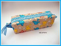 estojo porta lápis (♥Edy Arteira®♥) Tags: bird passarinho portalápis estojo