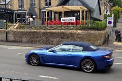 MC (MJParker1804) Tags: blue sport shift convertible mc gran spotted turismo cabrio rare v8 maserati stradale cabriolet granturismo grancabrio