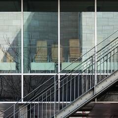 AART. Bikuben student residence #6 (Ximo Michavila) Tags: shadow urban abstract reflection building geometric window glass lines metal architecture stairs copenhagen square denmark grey student graphic residence aart architecturephotography archidose bikuben archdaily archiref ximomichavila