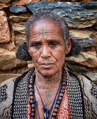 Orthodox Tattoos, Tigray, Ethiopia (Rod Waddington) Tags: africa woman church stone wall tattoo female beads african traditional afrika ethiopia ethnic orthodox ethnicity afrique ethiopian etiopia tigray