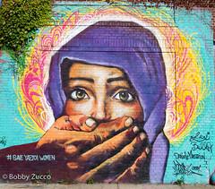 Save Yazidi Women by Danielle Mastrion (ZUCCONY) Tags: street nyc newyorkcity streetart newyork art love geotagged graffiti calle arte unitedstates bobby rue welling 2015 zucco wellingcourtmuralproject bobbyzucco pedrozucco