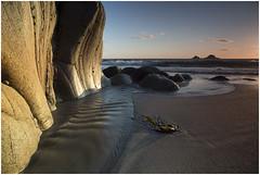Cott  Valley (mrcheeky2009) Tags: sunset seascape beach water movement sand rocks cornwall porth softlight polariser longexsposure cotvalley nanven leefilters canon1740mmllens hitechfilters canon5diii