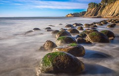 Standing in the Surf - Bowling Ball Beach (dezzouk) Tags: bowlingballbeach sunset california schoonergulch owtide lowtide