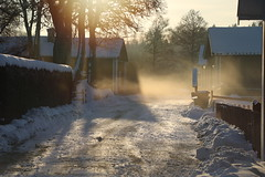 IMG_5574 (fotoannica.se) Tags: road sunset snow redhouse sweden