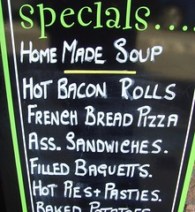 Ass Sandwiches a speciality (Tony Worrall) Tags: fun funny sign signage board fill filling ass quirky written words silly specials menu food wrong mistake bad poor grammar spelling incorrect stupid appleby north cumbria