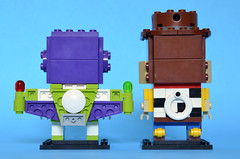 Toy Story Brickheadz back (Oky - Space Ranger) Tags: lego brickheadz disney pixar toy story sheriff woody buzz lightyear space ranger cowboy