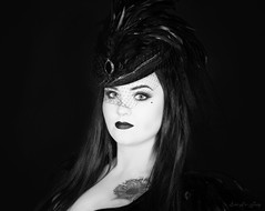 Gothic Princess... (evelefay) Tags: portrait photoshop photo vampire steampunk makeup photography make up artist gothic canon blackandwhite