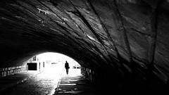 Grand Canal Quay - Dublin, Ireland - Black and white street photography (Giuseppe Milo (www.pixael.com)) Tags: streetphotography urban silhouette ireland street woman dublin blackandwhite city walking alone countydublin ie onsale faceless