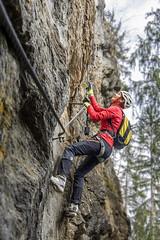 Whatever Happens, Look Ahead! (Bergfex_Tirol) Tags: mountainsandclimbing bergfex climbing tyrol klettern oesterreich bergsport mountaineering sports tirol österreich menschen people sport austria huterlaner fixedroperoute viaferrata zillertal klettersteig pfeilspitz mayrhofen cliff felswand green grün fels rock abenteuer adventure herausforderung challenge alpen alps roc