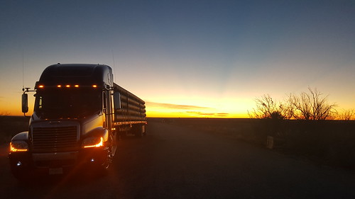 TX oil patch sunrise