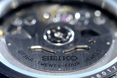 Seiko 4R36 Movement (DigitalCanvas72) Tags: seiko watch usa japan mechanical automatic kinetic nikond7000 nikkor85mm35gedvrdx military look green od