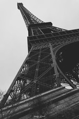 #Eiffeltower in #Paris #France (graser.robert) Tags: 16mm 5000 adobe alpha bw black eiffel france frankreich hitchcock iso100 lightroom paris perspective robertgraser sonya5000 tower white eiffeltower hitch lighttime look vintage paris7earrondissement îledefrance fr