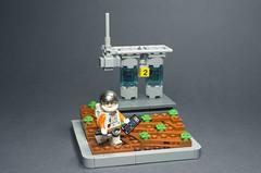 Life on Mars (N-11 Ordo) Tags: lego space build scififi science fiction life mars astronauts n11 ordo moc vignette water biology scientist adventure small bricks grey dark orange n7mereel