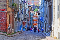 Balat, Istanbul (yonca60) Tags: istanbul turkey fener balat street colorfulcities colorfulhouses house people streetart road