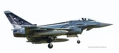 Eurofighter met mooie 125 j. jubileum beschildering (John de Grooth) Tags: leeuwarden vliegbasis frisianflag 50500mm sigma bigma d7000 nikon fighter airplane airbattle straaljager bomber gevechtsjager gevechtsjagers 2017 eurofightertyphoon eurofighter typhoon bej