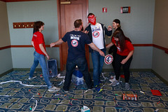 2017_SEM_Chicago Survivor Seminar and GGC_153 (TAPSOrg) Tags: taps chicago seminar survivors tragedyassistanceprogramforsurvivors 2017 indoor horizontal ggc redshirt blueshirt mentor game group males women paddle blindfold