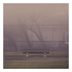 Love (Mister Day) Tags: park bench tennis empty city courts moody misty