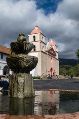 Old Mission Reflections (tquist24) Tags: california nikon nikond5300 oldsantabarbaramission santabarbara architecture clouds fountain geotagged mission reflection reflections sky vacation water unitedstates