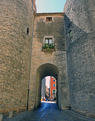 Calle y murallas de Girona (Luis Mª) Tags: gerona girona arquitectura murallas puerta paisajeurbano