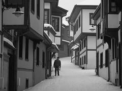 'Lone passage' (Odun Pazarı (Wood Market), district, Eskişehir, Turkey) (Steve Hobson) Tags: odun pazarı wood market eskişehir winter snow