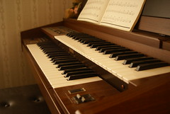 Organ (MeaganMuffins) Tags: music brown keys soft notes antique piano organ musical dust