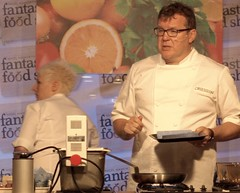 Chef Nigel Haworth at the Fantastic Food Show - cooking demo (Tony Worrall Foto) Tags: show uk england food cooking fun fry fantastic year sunday may cook 4th lancashire blackburn event chef celeb cooks 19th potsandpans foodie lancs returned foodshow 2013 chefswhites haworths nigelhaworthsfantasticfoodshow