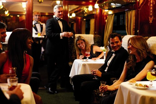 British Pullman - Friendly atmosphere on a luxury train in the UK